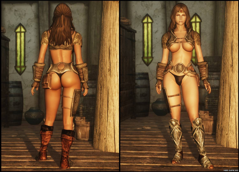 Сексуальная меховая броня для cbbe skyrim